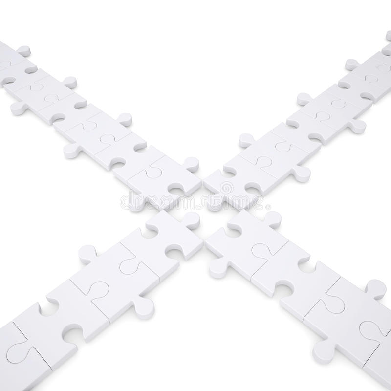 Puzzles Are White Royalty Free Stock Photo