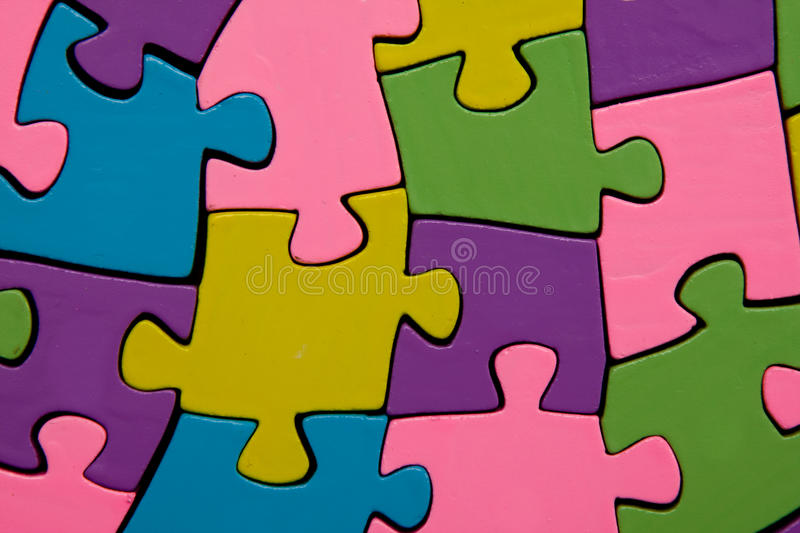 Puzzlespiel stockfotos