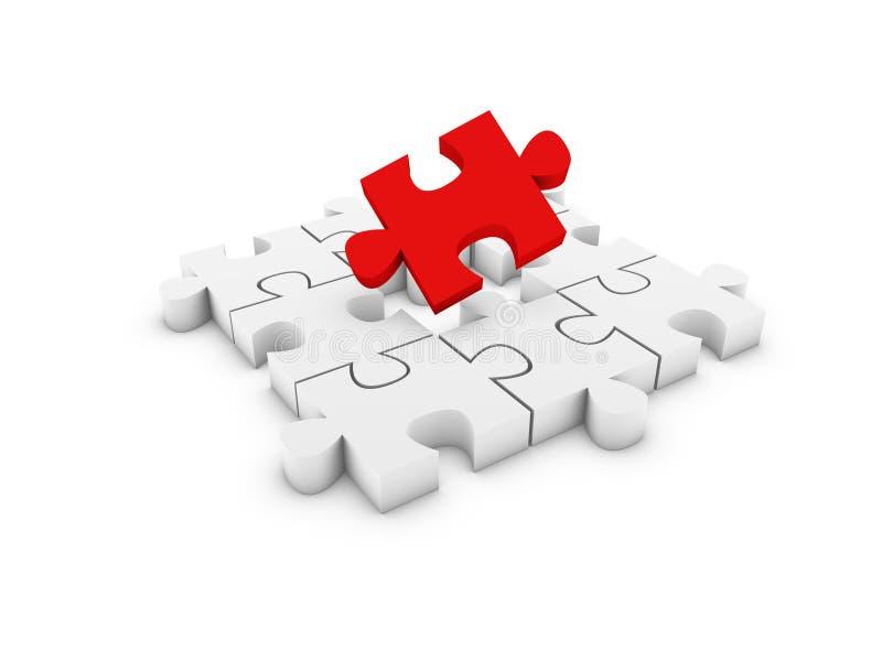 Puzzlespiel lizenzfreie abbildung