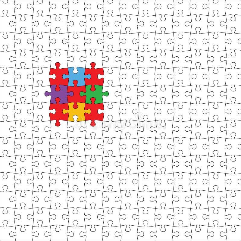 Puzzlespiel stock abbildung