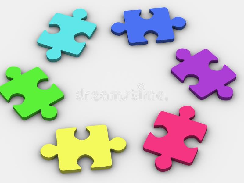 Puzzlespiel. stock abbildung