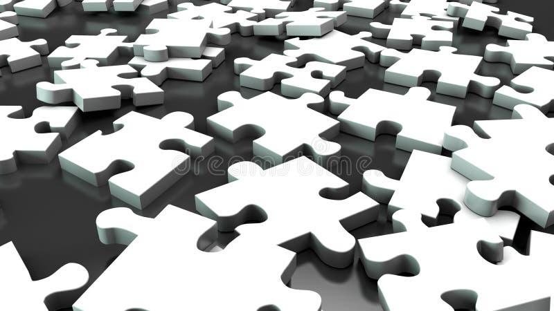 Puzzlespiel 3 stock abbildung