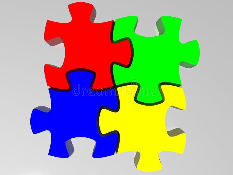 Puzzlespiel vektor abbildung