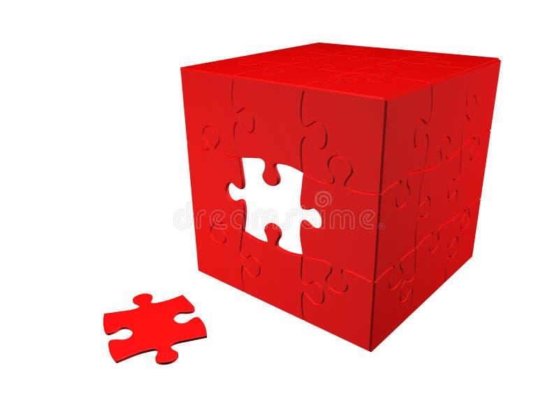 Puzzlespiel 3D lizenzfreie abbildung