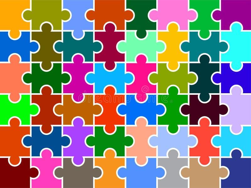 Puzzlespiel bessert multi farbigen Hintergrund aus lizenzfreie abbildung