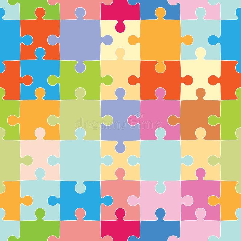 Puzzlespiel bessert Muster aus lizenzfreie abbildung
