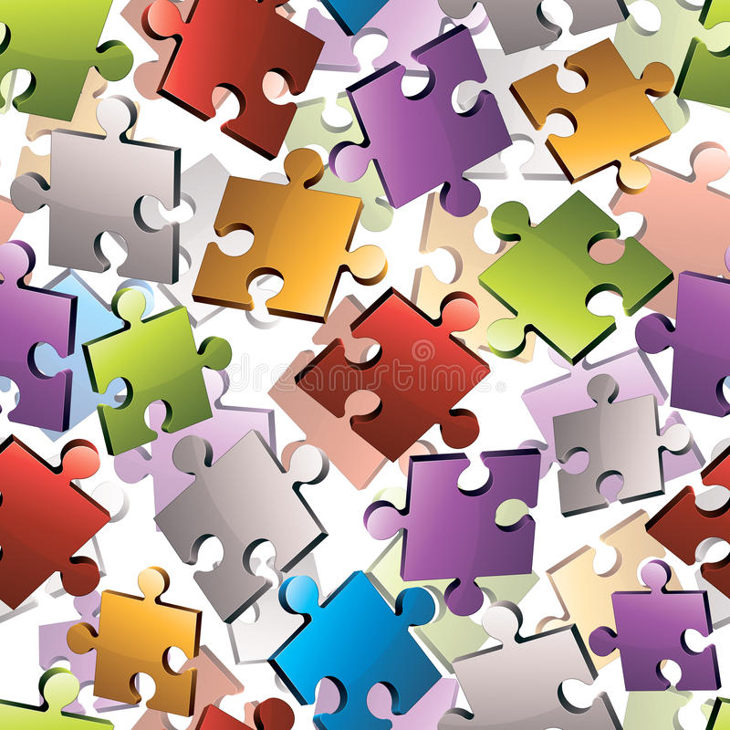 Puzzlespiel bessert nahtloses aus lizenzfreie abbildung