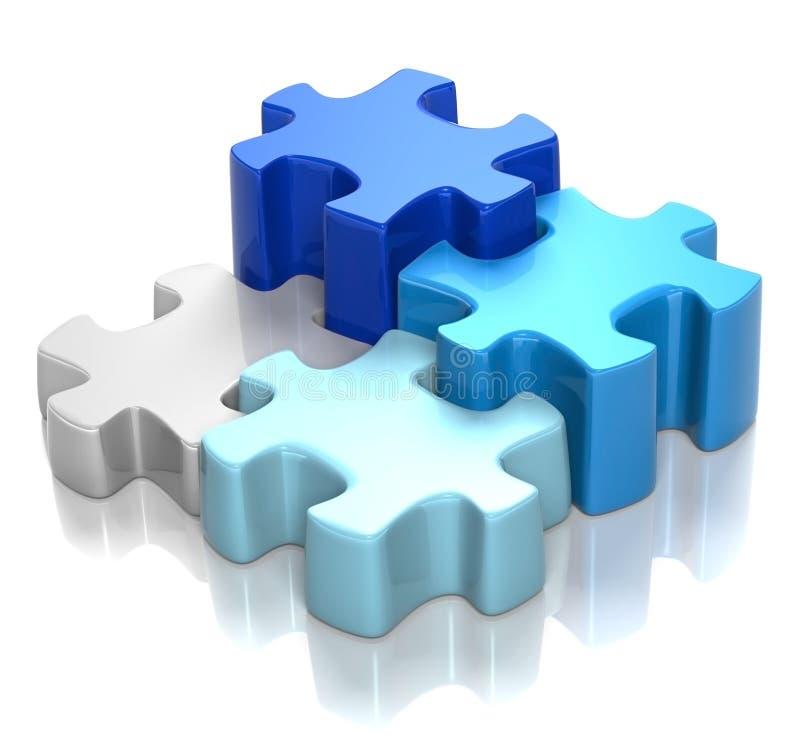 Puzzlespiel-Blau-Harmonie vektor abbildung