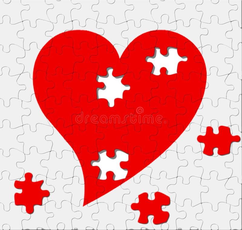 Puzzlespiel der Liebe stockfotos