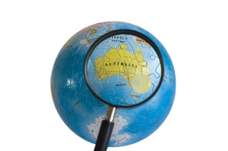 Puzzlespiel der Welt3d (Australien) lizenzfreies stockfoto