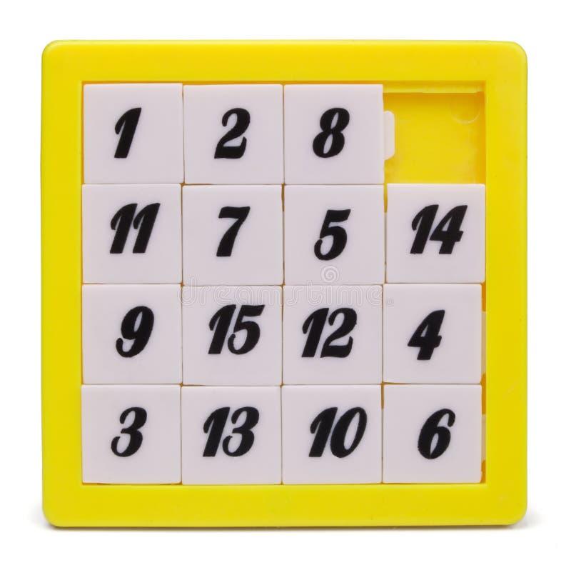 Puzzlespiel fünfzehn lizenzfreie stockfotos