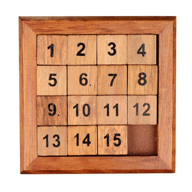 Puzzlespiel fünfzehn lizenzfreie stockfotografie