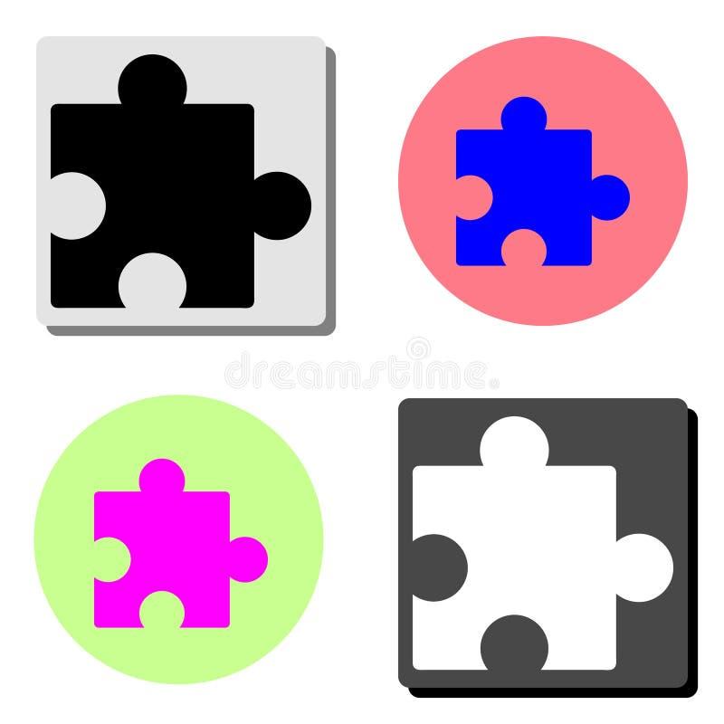 Puzzlespiel Flache Vektorikone lizenzfreie abbildung
