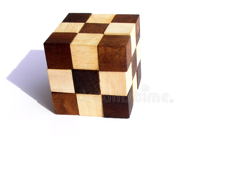 Puzzlespiel - hölzernes Puzzlespiel lizenzfreies stockbild