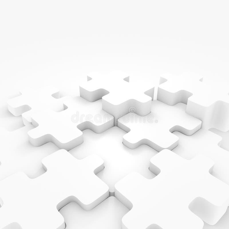 Puzzlespiel-Horizont vektor abbildung