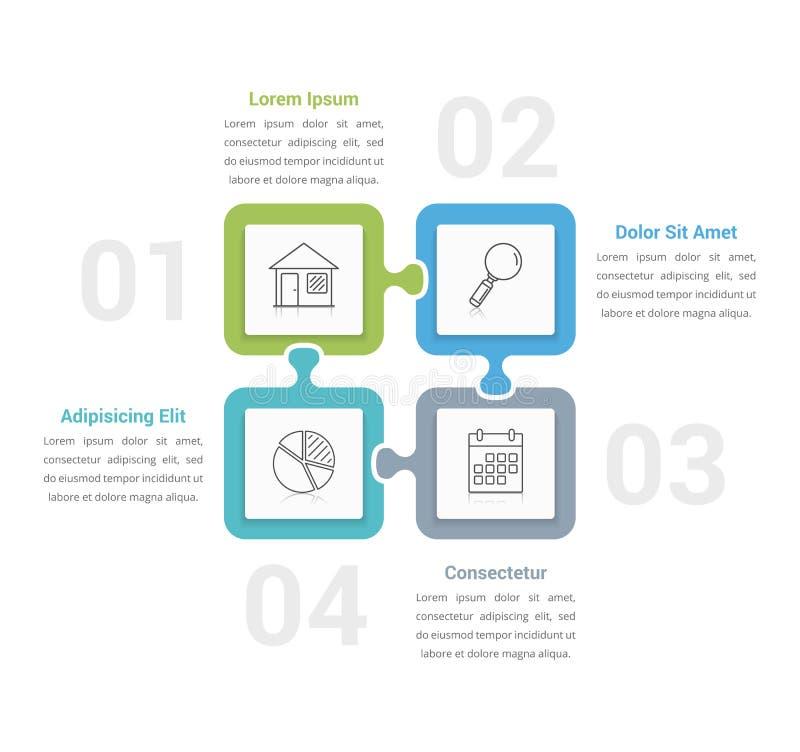 Puzzlespiel Infographics vektor abbildung