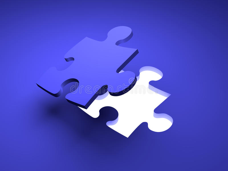 Puzzlespiel-Lösung stock abbildung