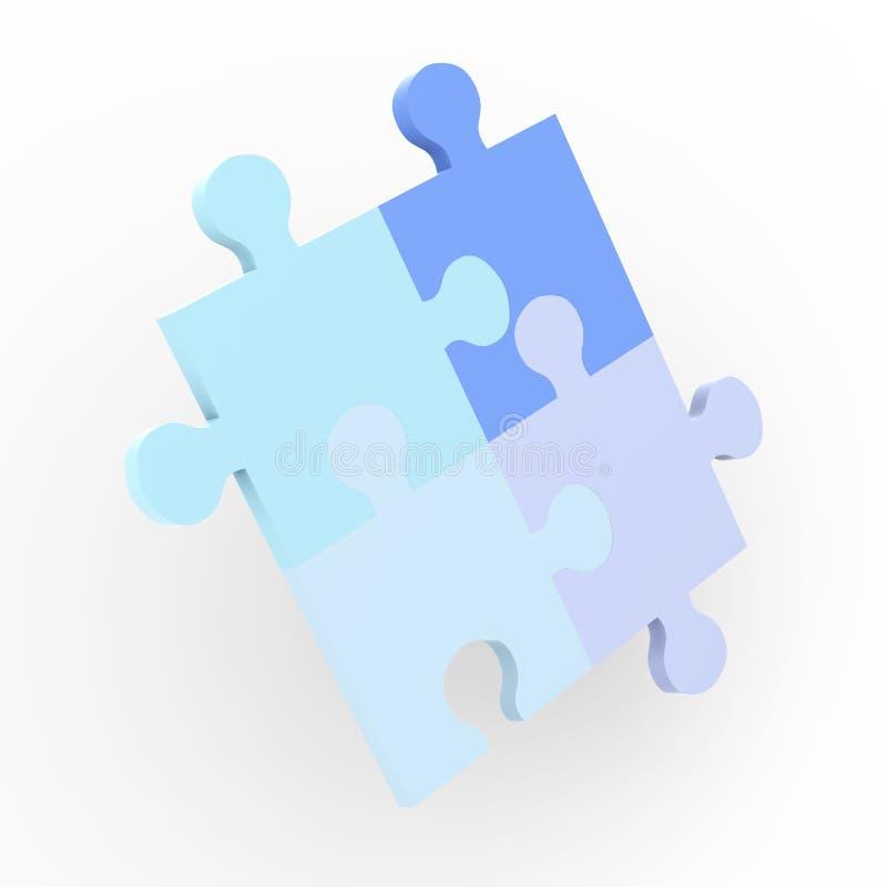 Puzzlespiel-Lösung lizenzfreie abbildung