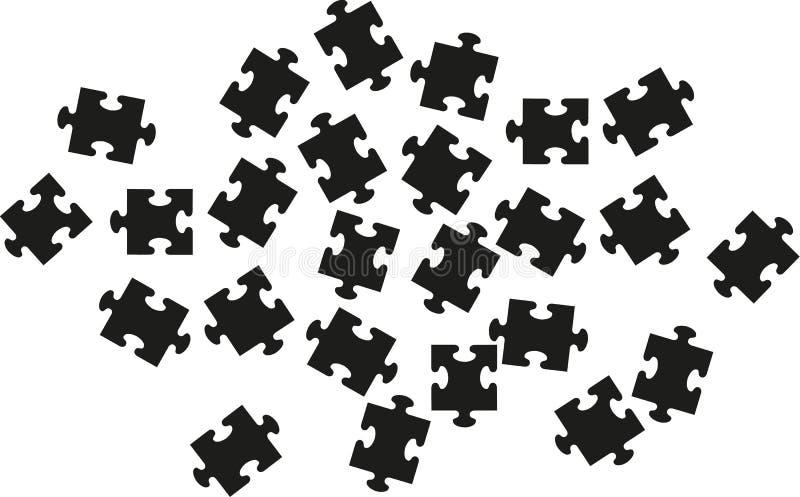 Puzzlespiel mit vielen Stücken lizenzfreie abbildung