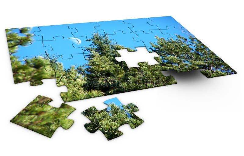 Puzzlespiel-Natur lizenzfreie abbildung