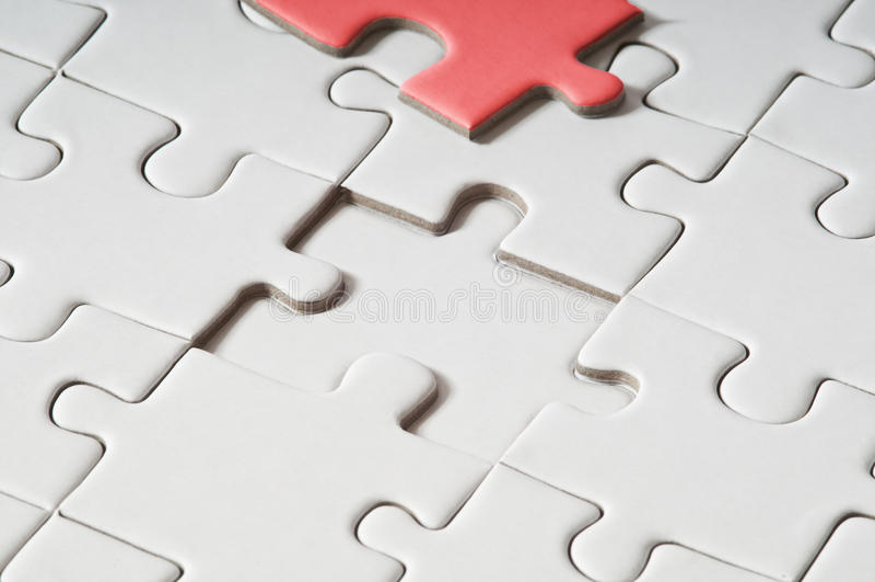 Puzzlespiel - Problem-Lösung stockbild