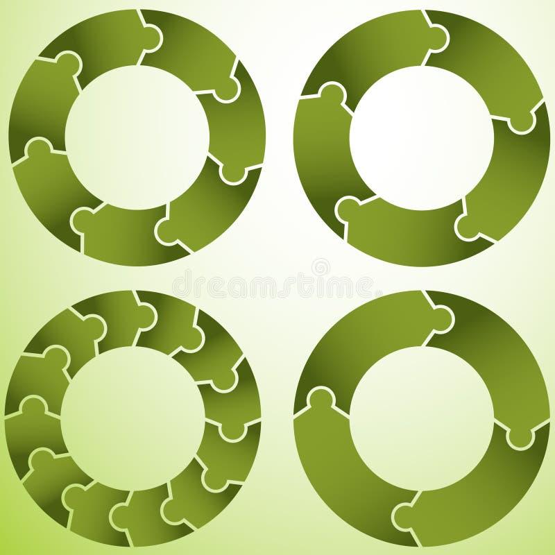 Puzzlespiel-Rad lizenzfreie abbildung