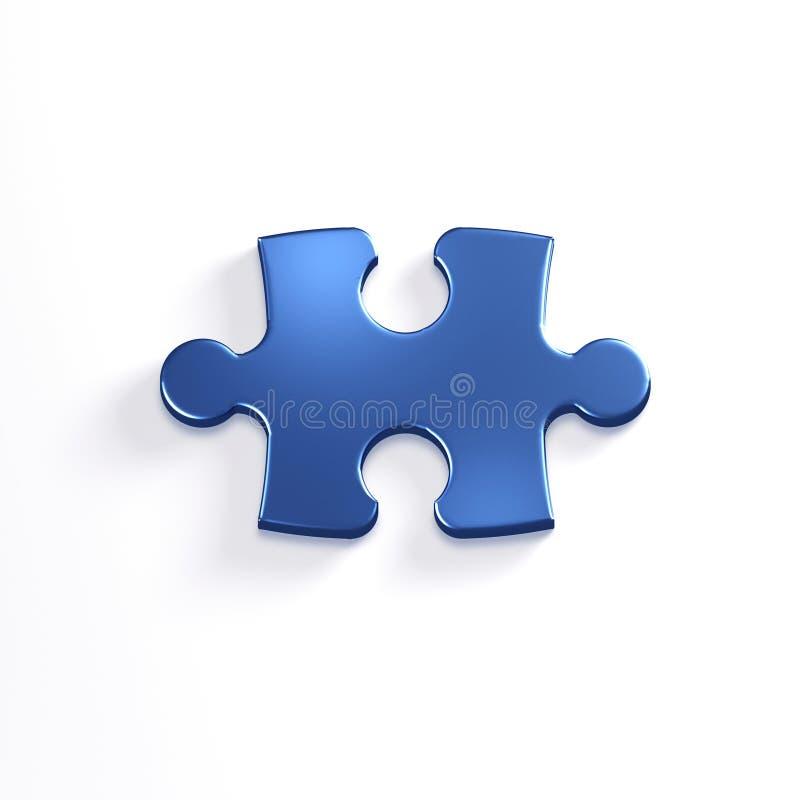 Puzzlespiel-Stück der Laubsäge 3d übertragen Abbildung vektor abbildung