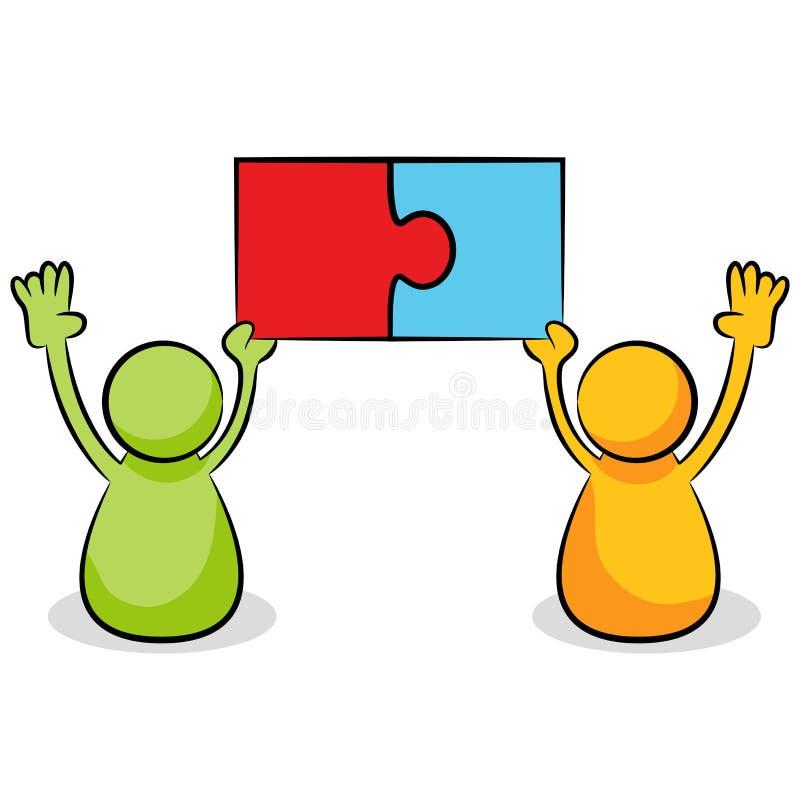 Puzzlespiel-Stück-Problem-Lösung stock abbildung