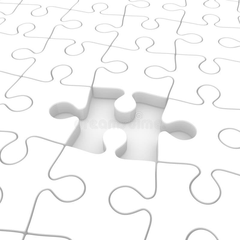 Puzzlespiel unvollständig lizenzfreie abbildung