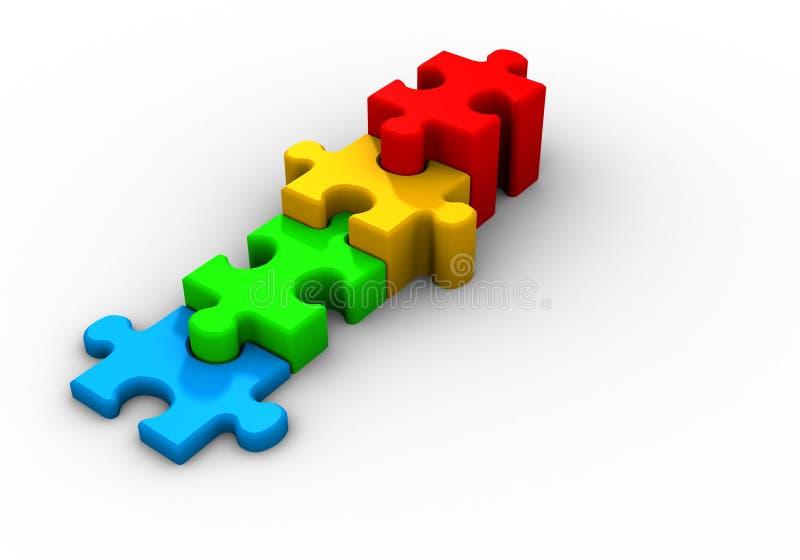 Puzzlespiel wachsen lizenzfreie abbildung