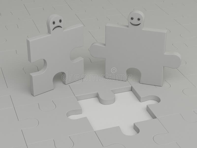 Puzzlespiele lizenzfreie abbildung