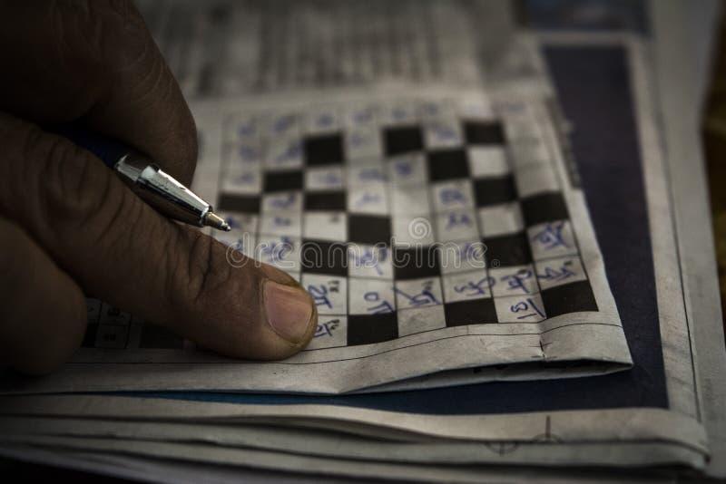 Puzzlespiele und Kreuzworträtsel lizenzfreie stockfotografie