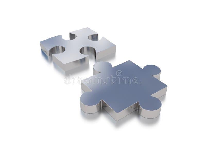 Puzzlespielelemente lizenzfreie abbildung