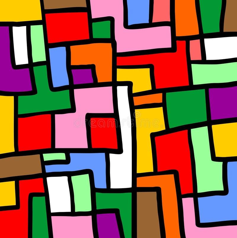 Puzzlespielfarbmosaik lizenzfreie abbildung