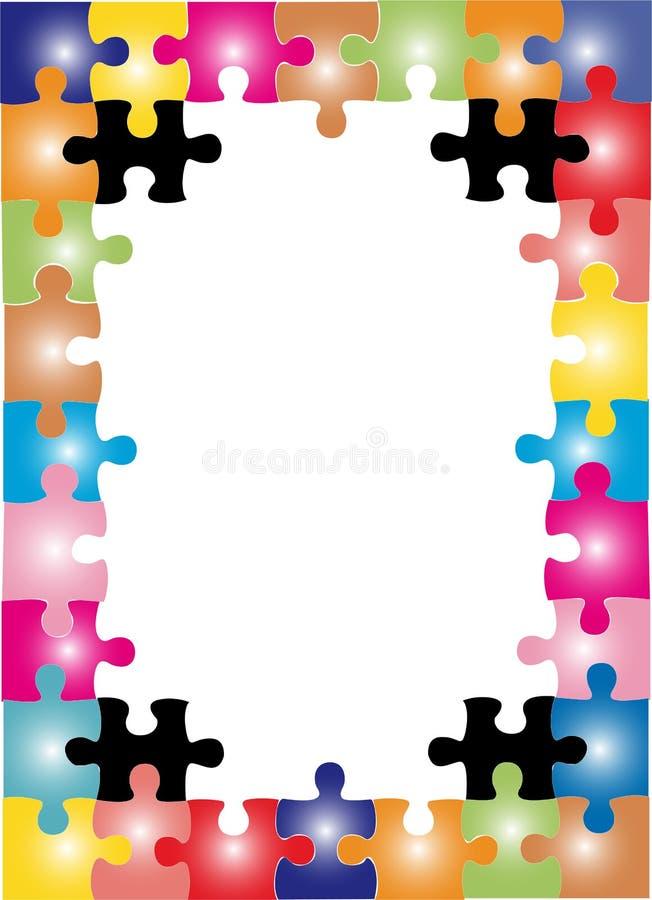 Puzzlespielfeld stock abbildung