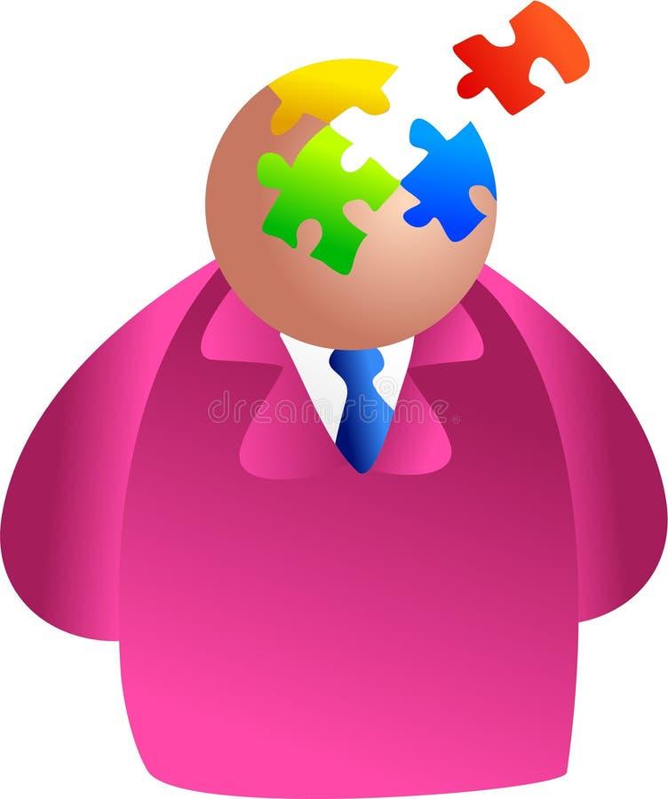 Puzzlespielgehirn stock abbildung