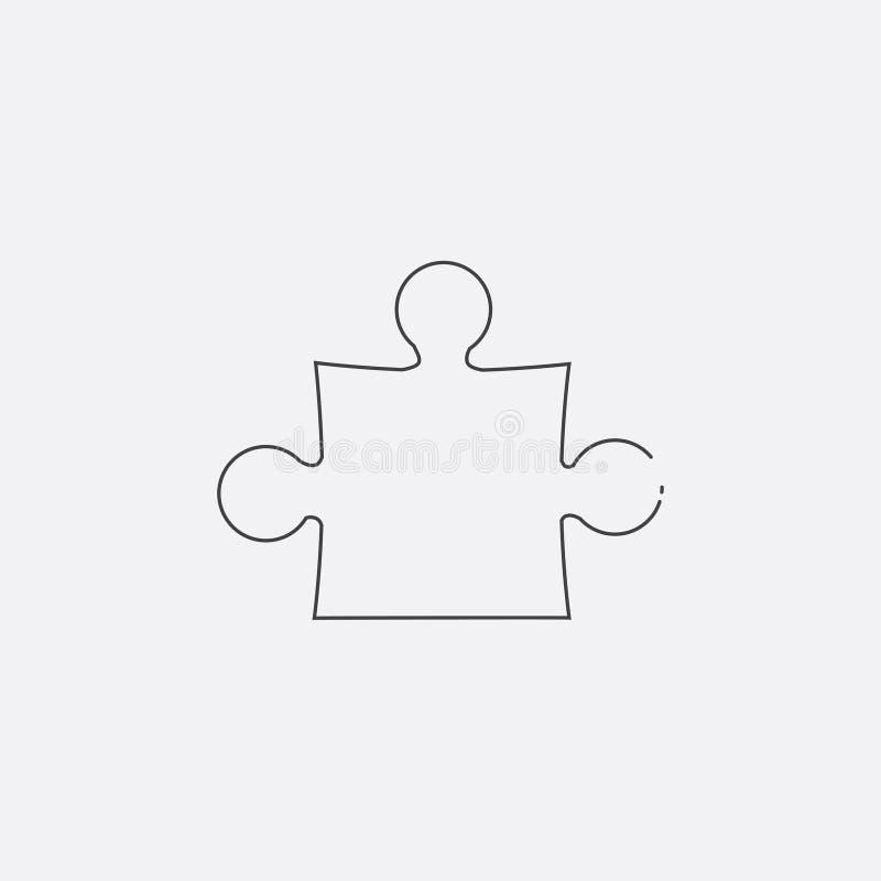Puzzlespielikone, Vektorillustration Flache Linie Ikone vektor abbildung