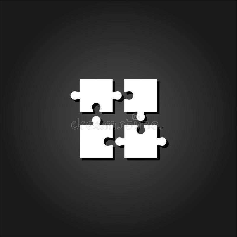 Puzzlespielikonenebene lizenzfreie abbildung