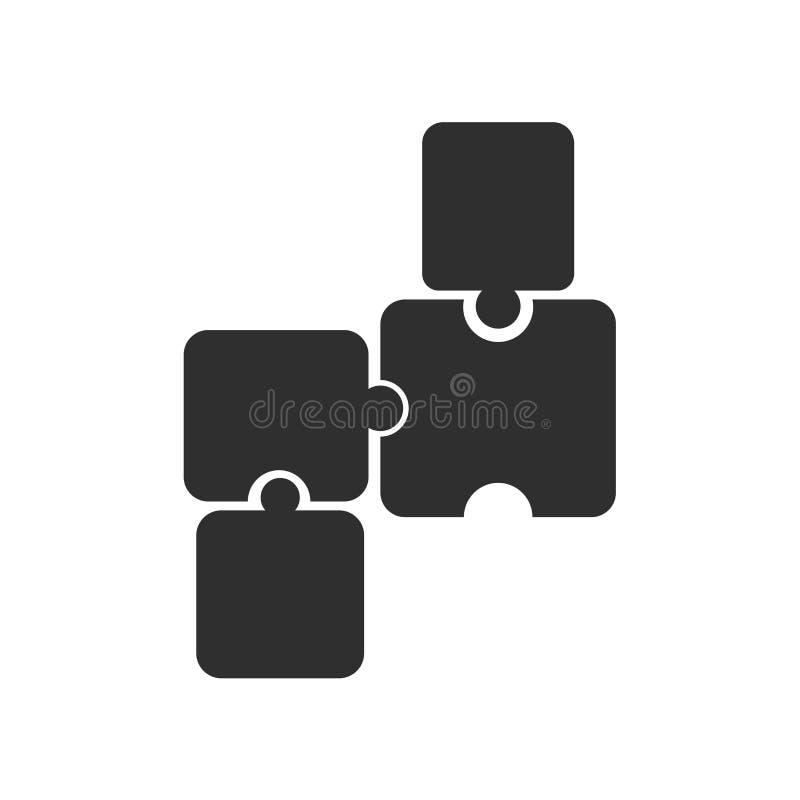 Puzzlespielikonenvektorzeichen und -symbol lokalisiert auf weißem Hintergrund, Puzzlespiellogokonzept lizenzfreie abbildung