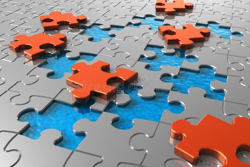 Puzzlespielkonzept vektor abbildung