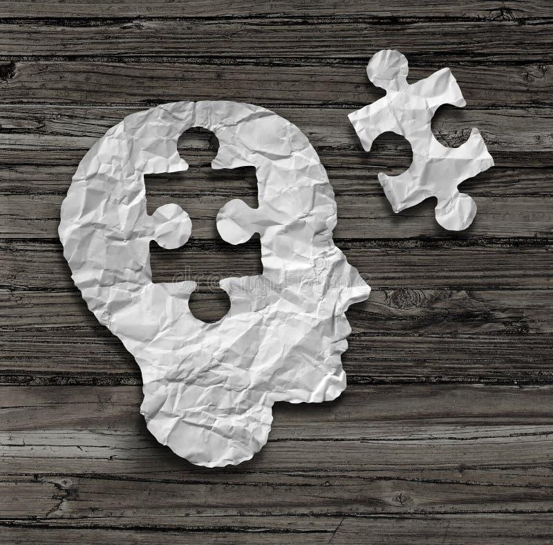 Puzzlespielkopf lizenzfreie abbildung