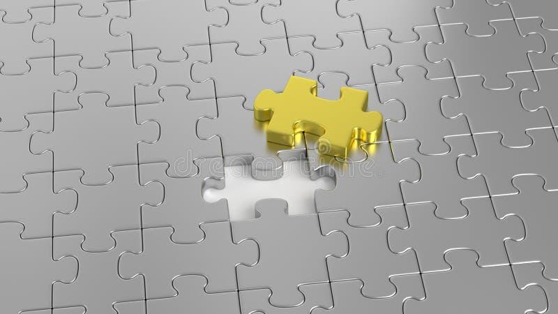 Puzzlespiellabyrinth zusammen lizenzfreies stockbild