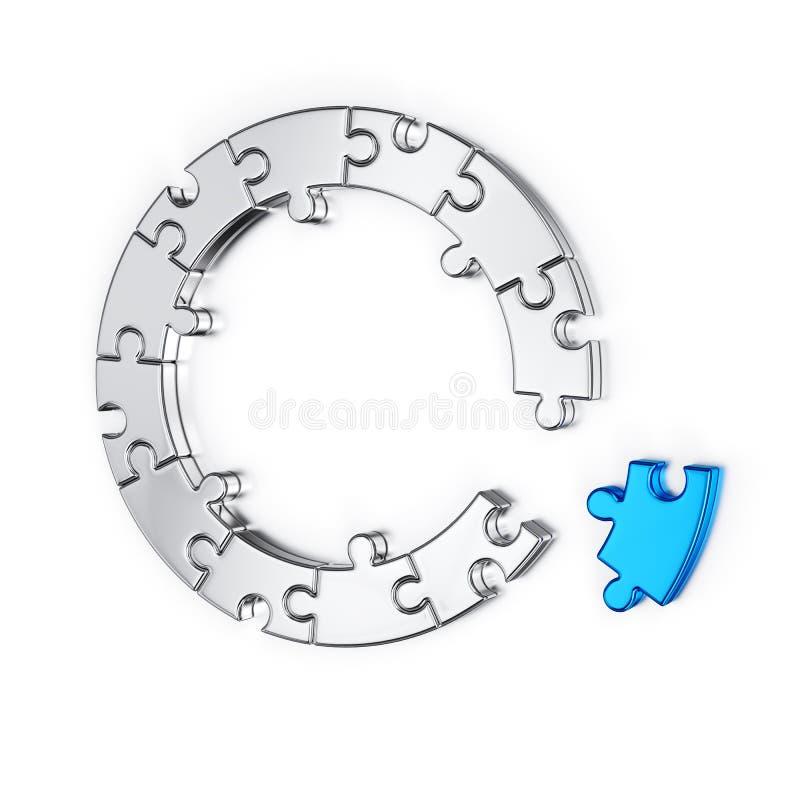 Puzzlespiellaubsägenring vektor abbildung