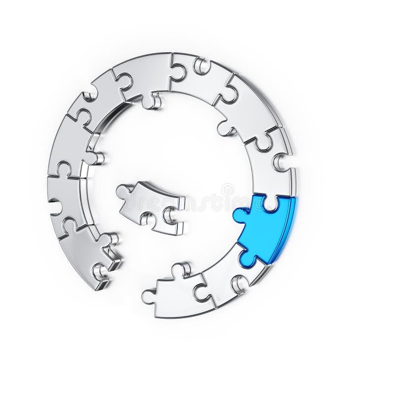 Puzzlespiellaubsägenring stock abbildung