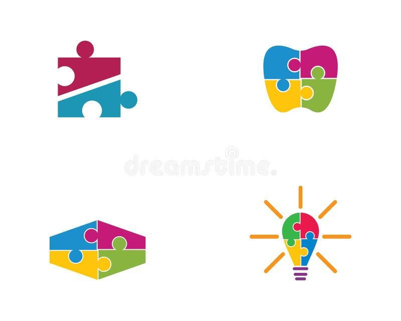 Puzzlespiellogoschablone stock abbildung