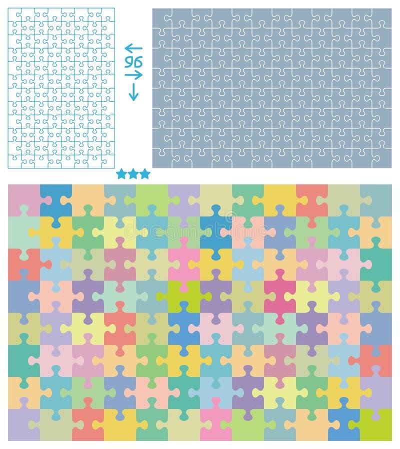 Puzzlespielmuster stock abbildung