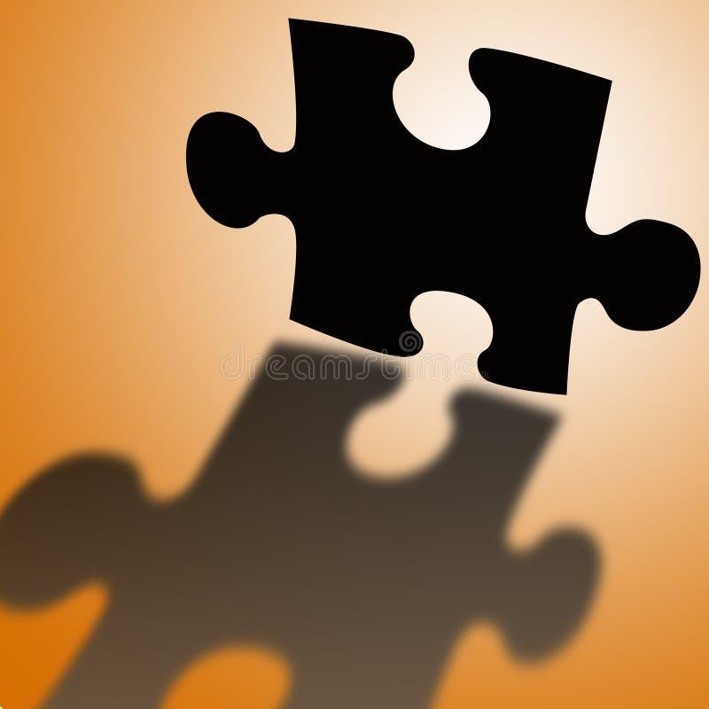 Puzzlespielschatten lizenzfreie abbildung