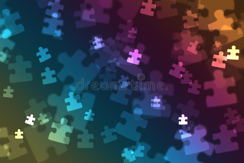 Puzzlespielstück bokeh vektor abbildung