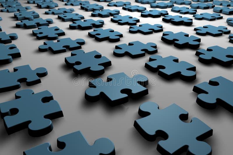 Puzzlespielstücke lizenzfreie abbildung