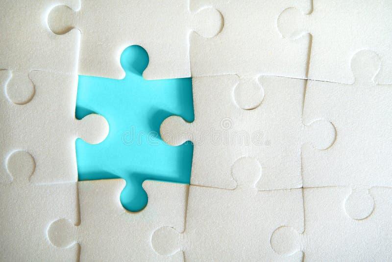 Puzzlespielstücke fügten zusammen stockfoto